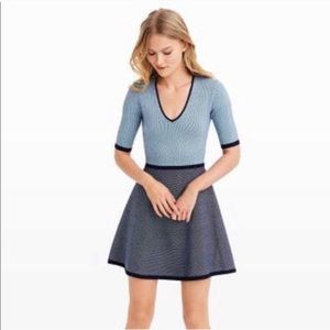 CLUB MONACO Wisten Colorblock Sweater Dress XS